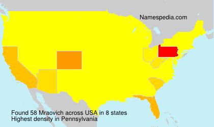 Surname Mraovich in USA
