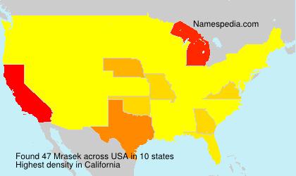 Surname Mrasek in USA