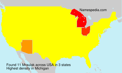 Surname Mraulak in USA