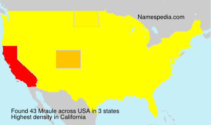 Surname Mraule in USA