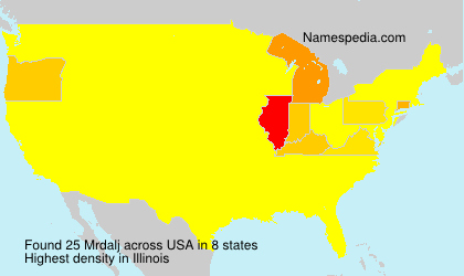 Surname Mrdalj in USA