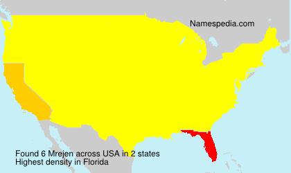 Surname Mrejen in USA