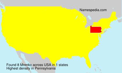 Surname Mrenko in USA