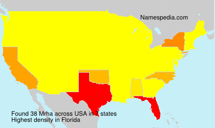 Surname Mrha in USA