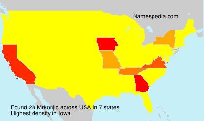 Surname Mrkonjic in USA
