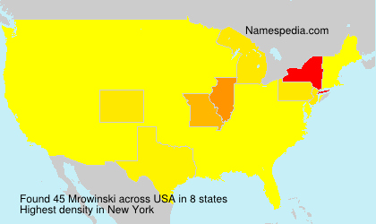 Surname Mrowinski in USA
