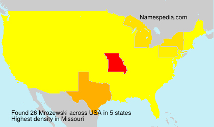 Familiennamen Mrozewski - USA