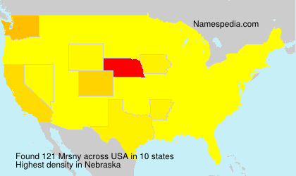 Surname Mrsny in USA