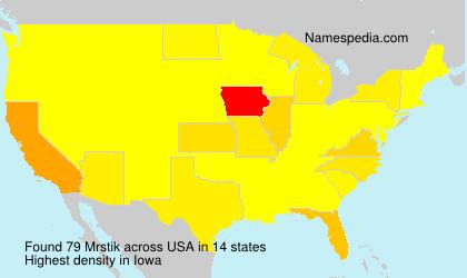 Surname Mrstik in USA