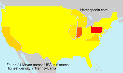 Surname Mrvan in USA