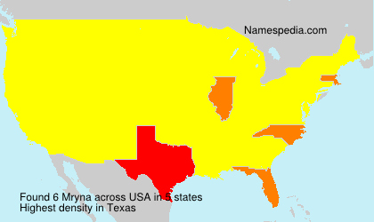 Surname Mryna in USA