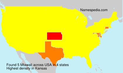 Surname Mtawali in USA