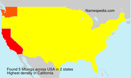 Surname Mtunga in USA