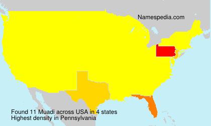 Familiennamen Muadi - USA