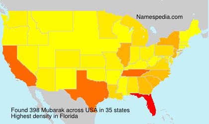 Surname Mubarak in USA