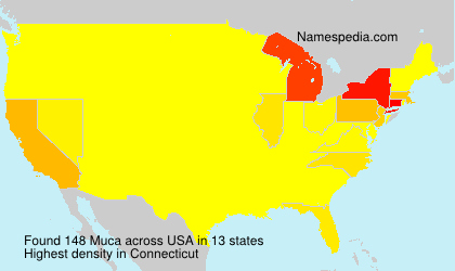 Surname Muca in USA