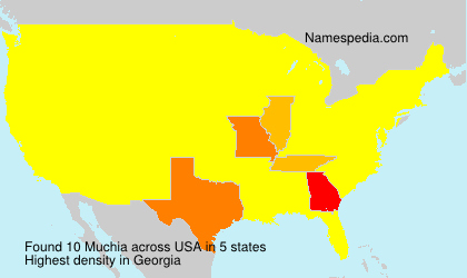 Surname Muchia in USA