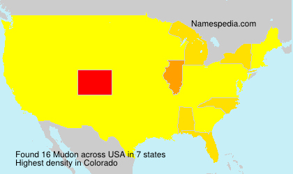 Surname Mudon in USA
