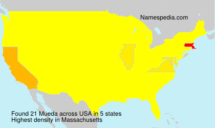 Surname Mueda in USA