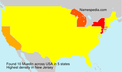 Surname Muedin in USA