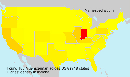 Surname Muensterman in USA