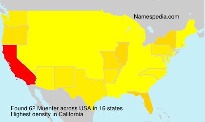 Surname Muenter in USA