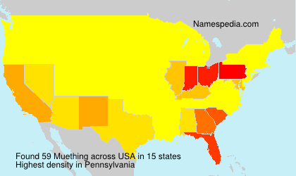 Surname Muething in USA