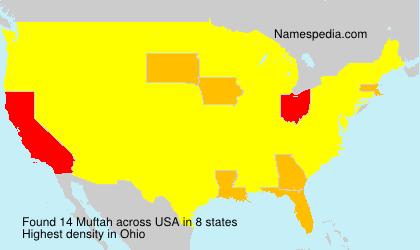 Familiennamen Muftah - USA
