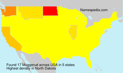 Surname Muggerud in USA