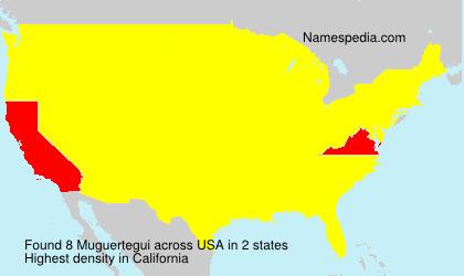 Surname Muguertegui in USA