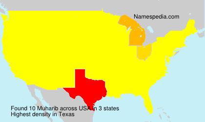Surname Muharib in USA