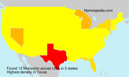 Surname Muhaxhiri in USA
