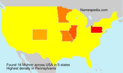 Surname Muhrer in USA