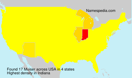 Surname Muiser in USA