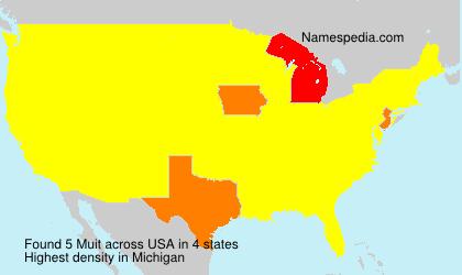 Familiennamen Muit - USA
