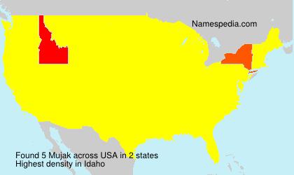 Surname Mujak in USA
