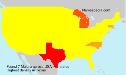 Familiennamen Mujuru - USA