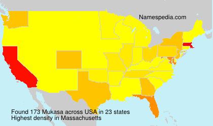 Familiennamen Mukasa - USA