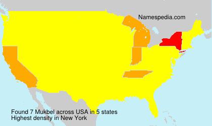 Surname Mukbel in USA