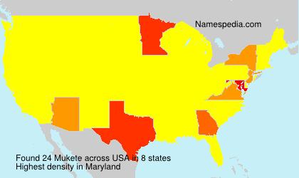 Familiennamen Mukete - USA