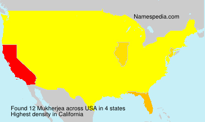 Surname Mukherjea in USA