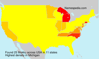 Surname Mukku in USA