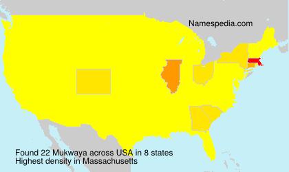 Surname Mukwaya in USA