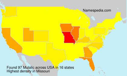 Surname Mulalic in USA