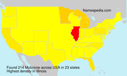 Surname Mulcrone in USA