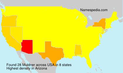 Surname Muldner in USA