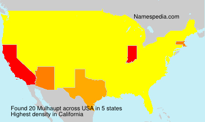 Surname Mulhaupt in USA
