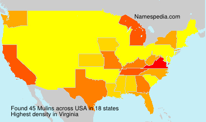 Surname Mulins in USA