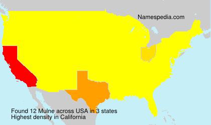 Surname Mulne in USA
