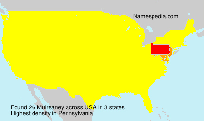 Surname Mulreaney in USA
